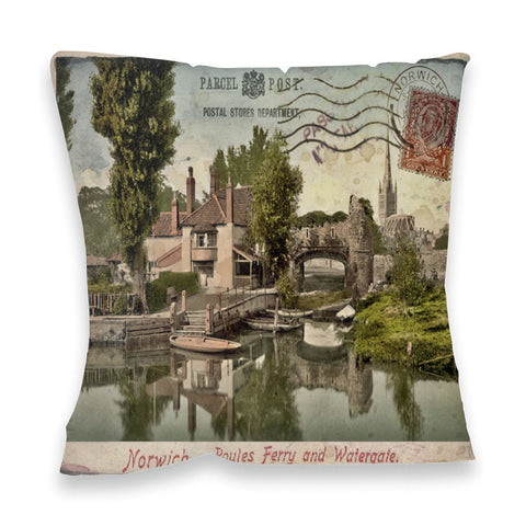 Poules Ferry and Watergate, Norwich Fibre Filled Cushion