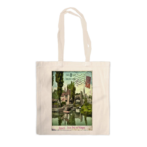 Poules Ferry and Watergate, Norwich Canvas Tote Bag