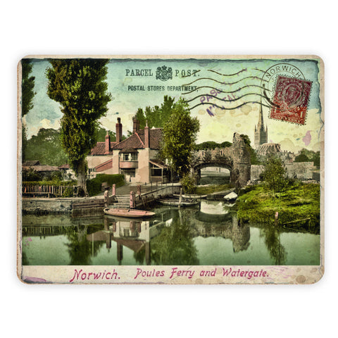 Poules Ferry and Watergate, Norwich Placemat