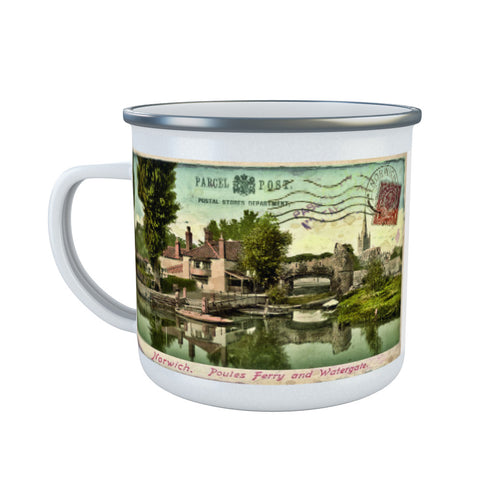 Poules Ferry and Watergate, Norwich Enamel Mug
