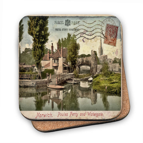 Poules Ferry and Watergate, Norwich MDF Coaster
