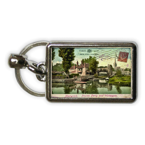 Poules Ferry and Watergate, Norwich Metal Keyring
