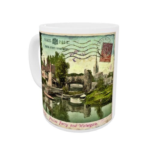Poules Ferry and Watergate, Norwich Coloured Insert Mug