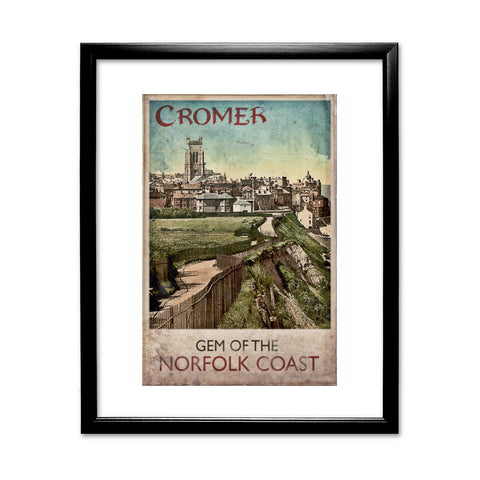 Cromer, Gem of the Norfolk Coast 11x14 Framed Print (Black)