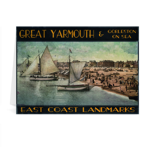 Great Yarmouth and Gorleston on Sea Greeting Card 7x5