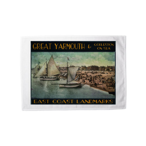 Great Yarmouth and Gorleston on Sea Tea Towel
