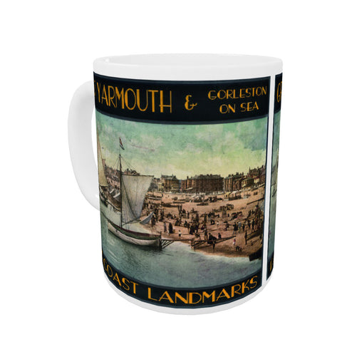Great Yarmouth and Gorleston on Sea Coloured Insert Mug