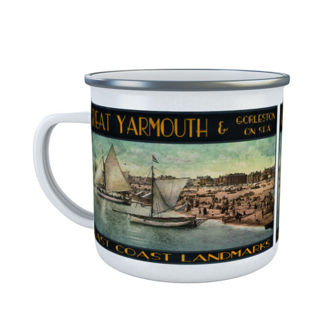Great Yarmouth and Gorleston on Sea Enamel Mug