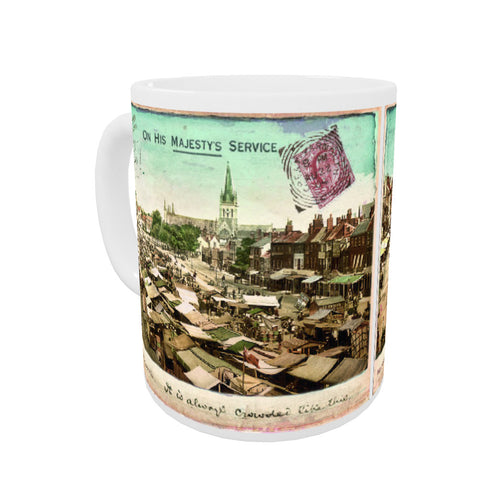 Market Place, Great Yarmouth Coloured Insert Mug
