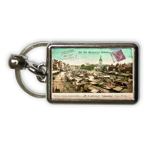Market Place, Great Yarmouth Metal Keyring