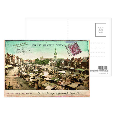 Market Place, Great Yarmouth Postcard Pack