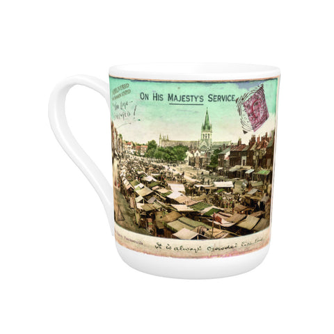 Market Place, Great Yarmouth Bone China Mug