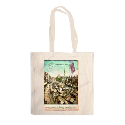 Market Place, Great Yarmouth Canvas Tote Bag