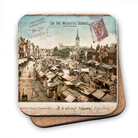 Market Place, Great Yarmouth MDF Coaster