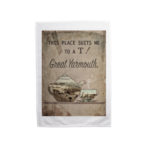 Great Yarmouth suits me to a T! Tea Towel