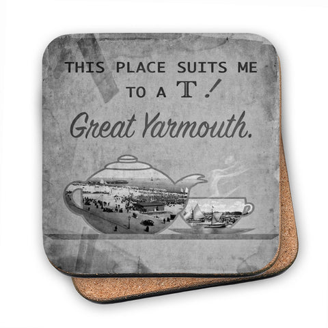Great Yarmouth suits me to a T! MDF Coaster