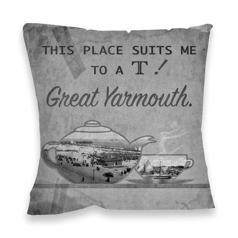 Great Yarmouth suits me to a T! Fibre Filled Cushion