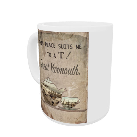 Great Yarmouth suits me to a T! Coloured Insert Mug