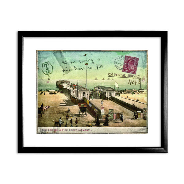 Britannia Pier, Great Yarmouth 11x14 Framed Print (Black)