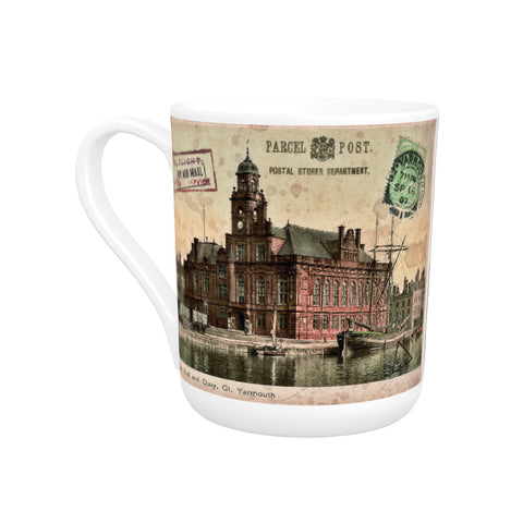 Town Hall and Quay, Great Yarmouth Bone China Mug