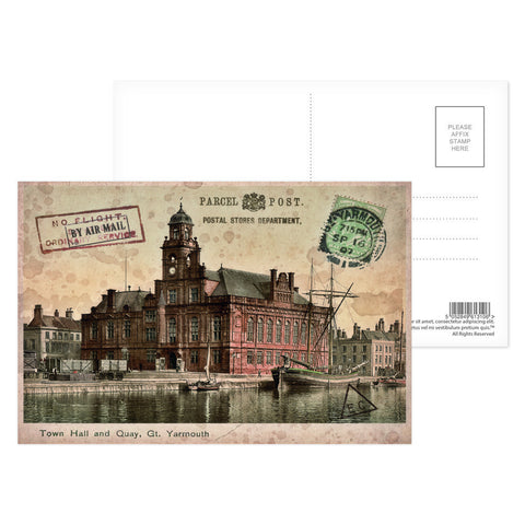 Town Hall and Quay, Great Yarmouth Postcard Pack