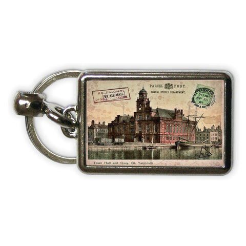 Town Hall and Quay, Great Yarmouth Metal Keyring