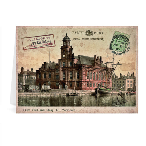 Town Hall and Quay, Great Yarmouth Greeting Card 7x5