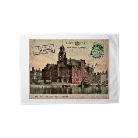Town Hall and Quay, Great Yarmouth Tea Towel