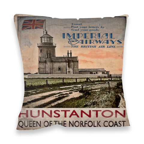 Hunstanton, Queen of the Norfolk Coast Fibre Filled Cushion