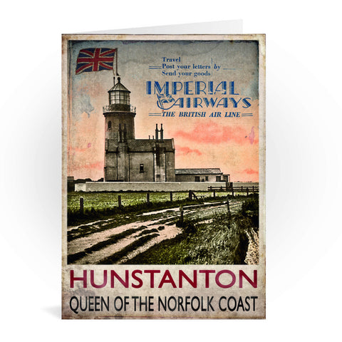 Hunstanton, Queen of the Norfolk Coast Greeting Card 7x5
