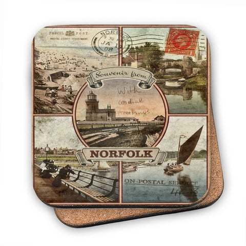 Souvenirs from Norfolk MDF Coaster