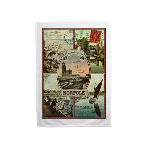 Souvenirs from Norfolk Tea Towel
