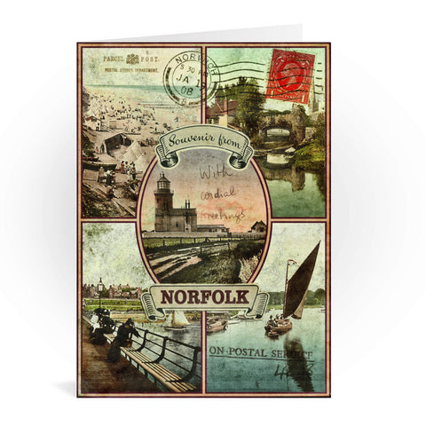 Souvenirs from Norfolk Greeting Card 7x5