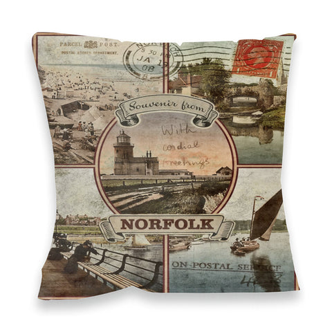 Souvenirs from Norfolk Fibre Filled Cushion