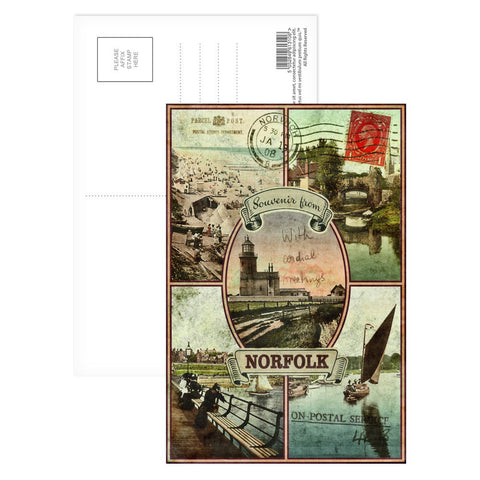 Souvenirs from Norfolk Postcard Pack