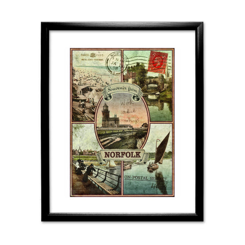 Souvenirs from Norfolk 11x14 Framed Print (Black)