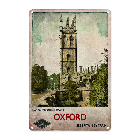 Magdalen College Tower, Oxford Metal Sign