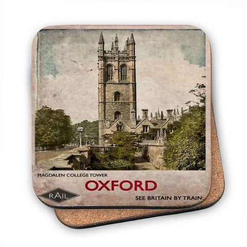 Magdalen College Tower, Oxford MDF Coaster