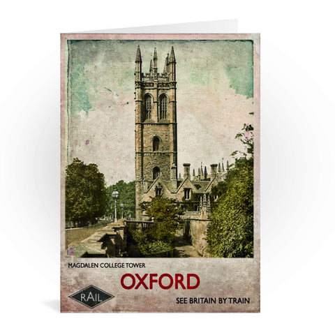 Magdalen College Tower, Oxford Greeting Card 7x5