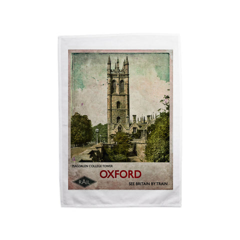 Magdalen College Tower, Oxford Tea Towel