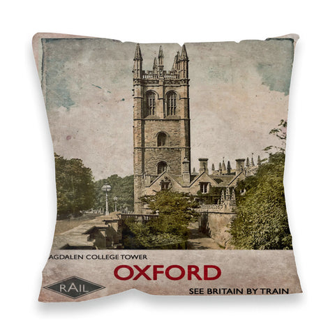 Magdalen College Tower, Oxford Fibre Filled Cushion
