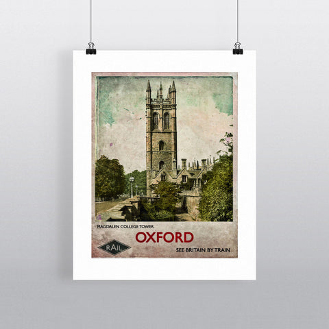 Magdalen College Tower, Oxford 90x120cm Fine Art Print