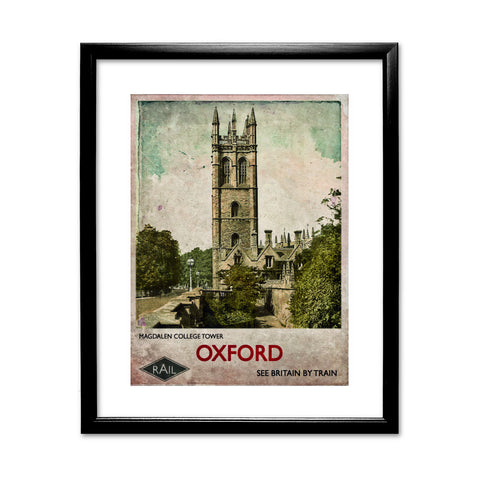 Magdalen College Tower, Oxford 11x14 Framed Print (Black)