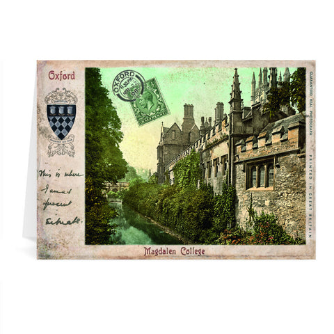 Magdalen College, Oxford Greeting Card 7x5