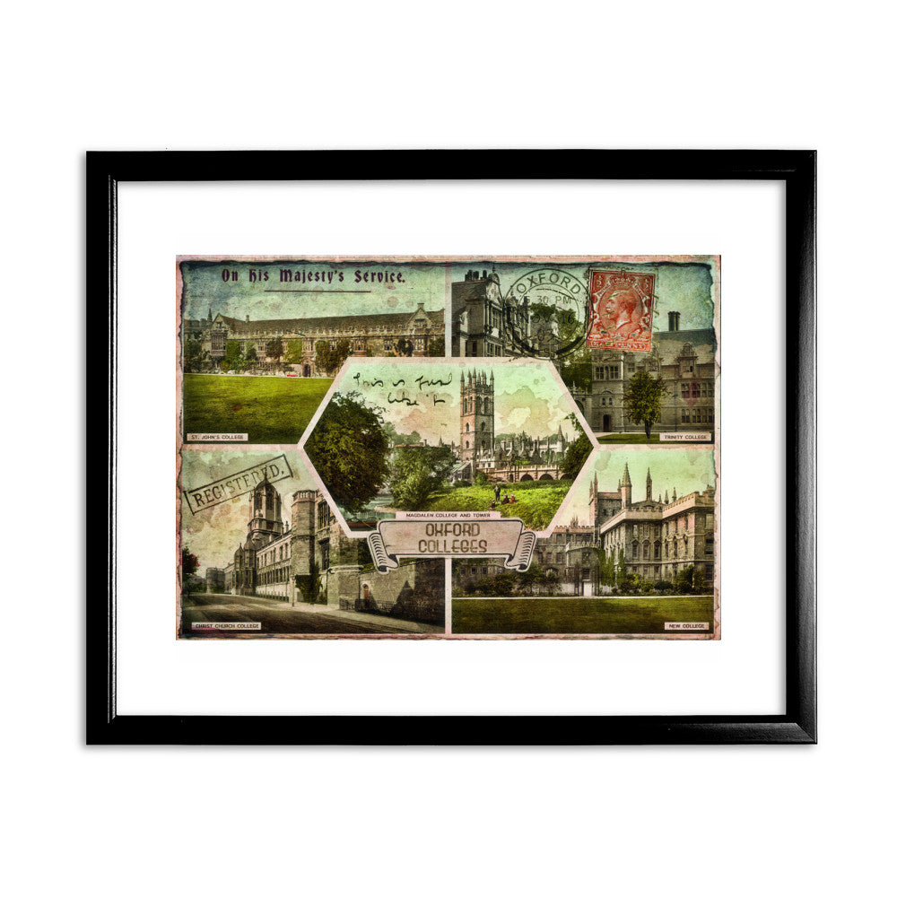 Oxford Colleges Framed Print