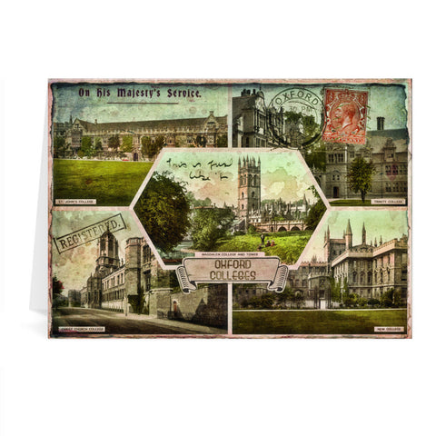Oxford Colleges Greeting Card 7x5