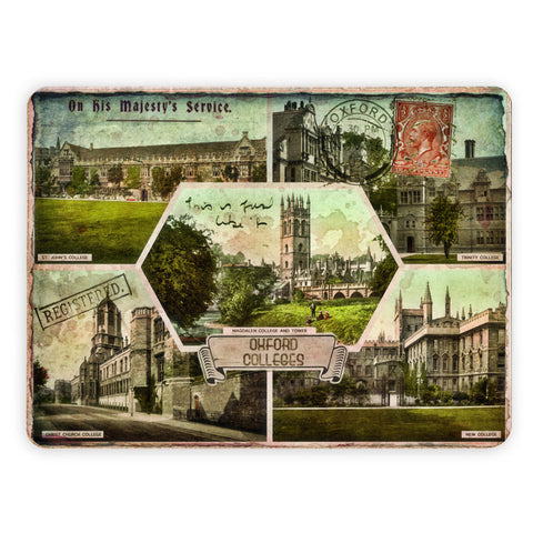 Oxford Colleges Placemat