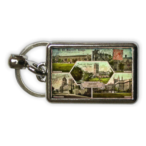 Oxford Colleges Metal Keyring