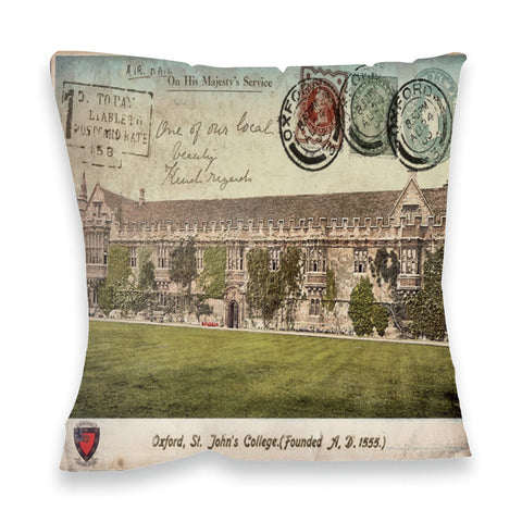 St Johns College, Oxford Fibre Filled Cushion