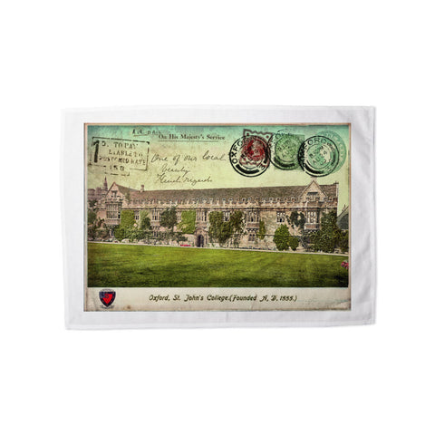 St Johns College, Oxford Tea Towel